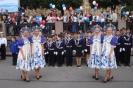 Танцевальная группа встречает барк Седов